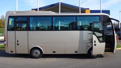 Autobusai į Šventają